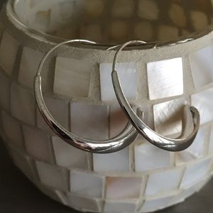 Express Brand Silver Hoop Earrings